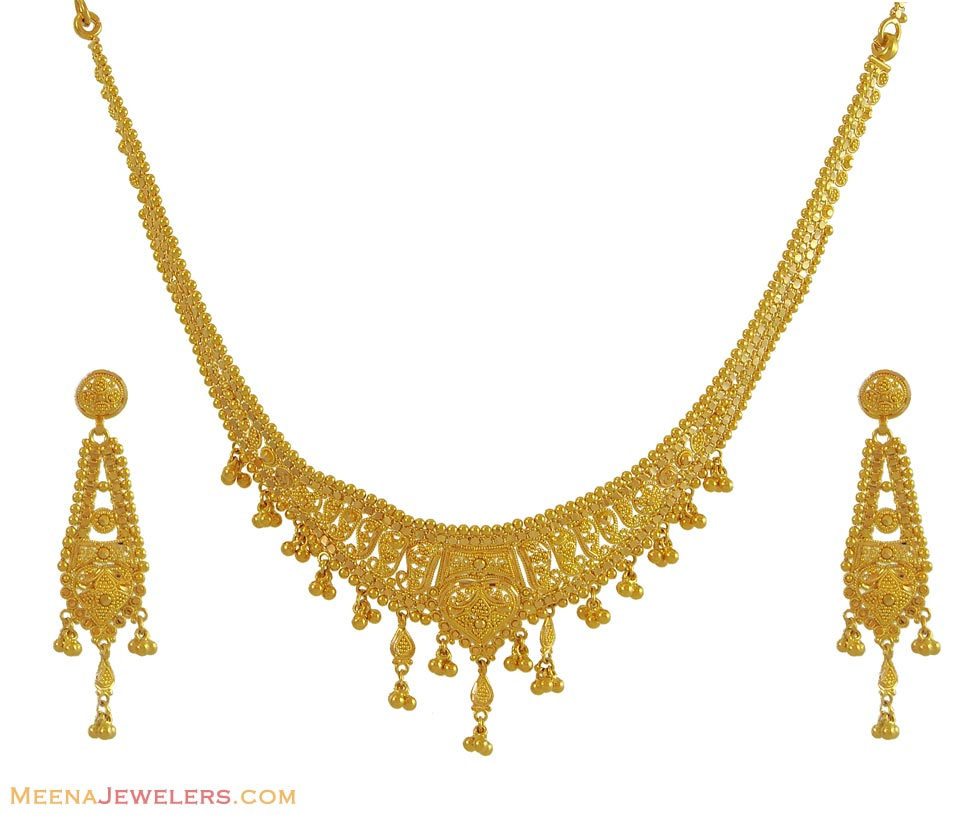 Gold Wedding Rings Indian Gold Necklace Set
