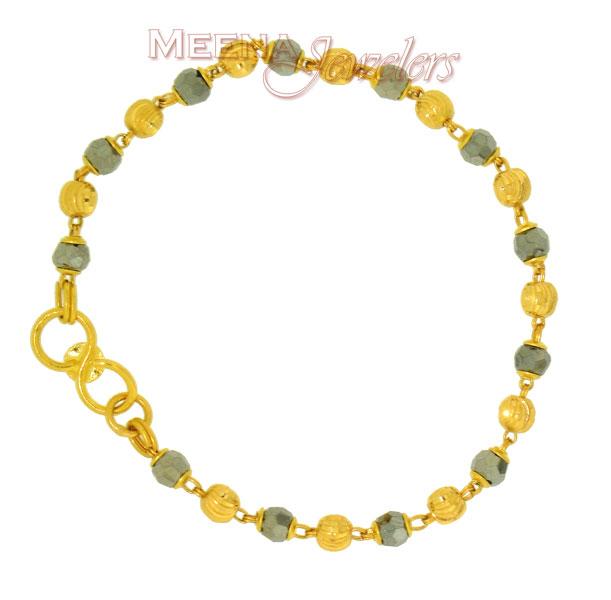 Baby Bracelets on Baby Bracelet 22k    Bjbb2126   22k Black Crystals Baby Bracelets