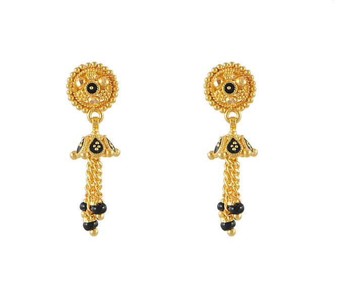 Fancy Earrings on Earrings   22kt Gold Fancy Earrings