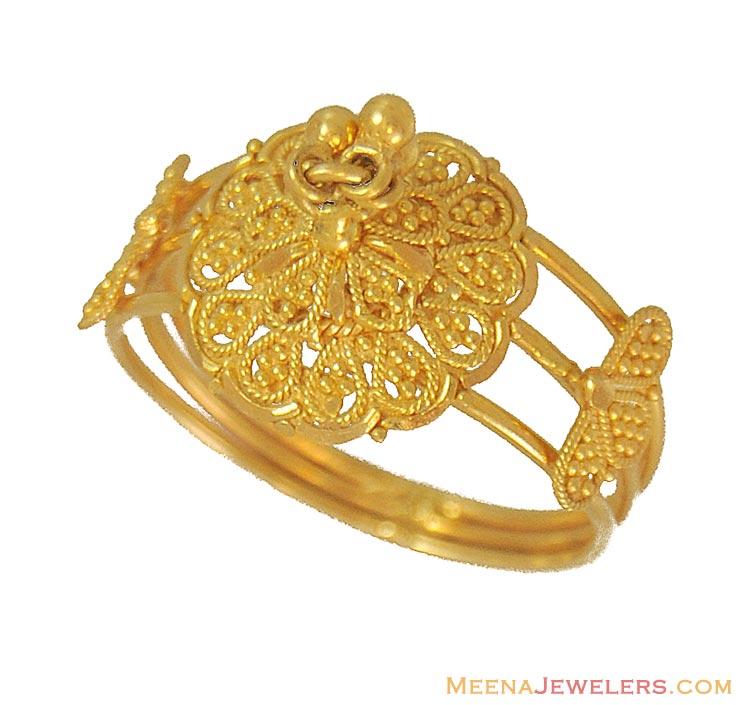 indian fancy ring 22 kt rilg9692 22 kt gold indian