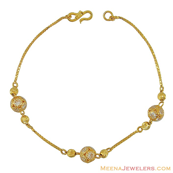 22k Ladies Cz Gold Bracelet Brla8527 22k Ladies Gold