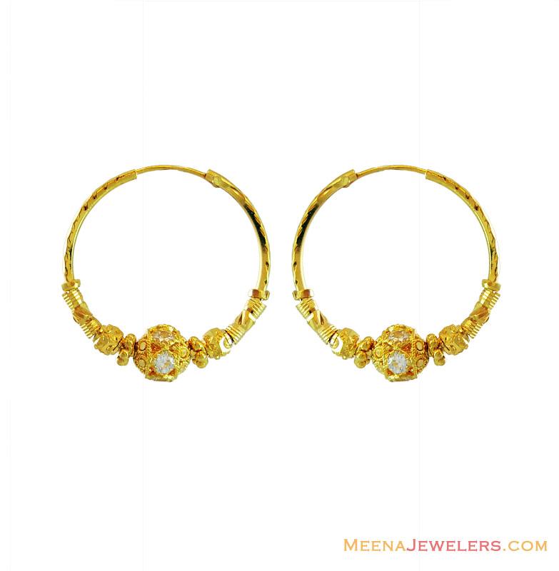 Gold Wedding Rings Indian Gold Earrings Designs Hoops