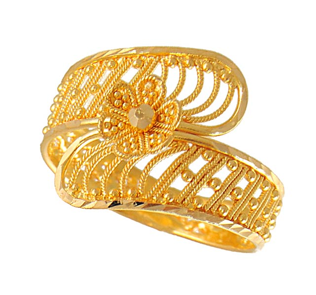 gold fancy ring rilg4351 22kt gold fancy ring with