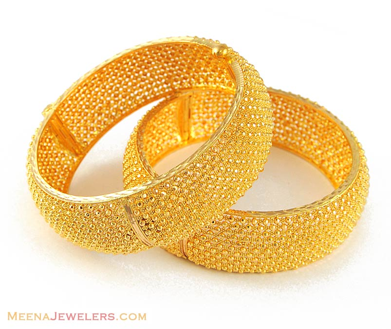 Gold Wedding Rings: Indian Gold Jewelry 22k Bangles