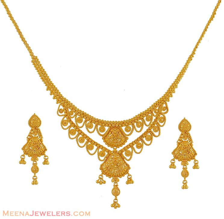 Gold Jewelry Clipart Gold Necklace Set Clipart