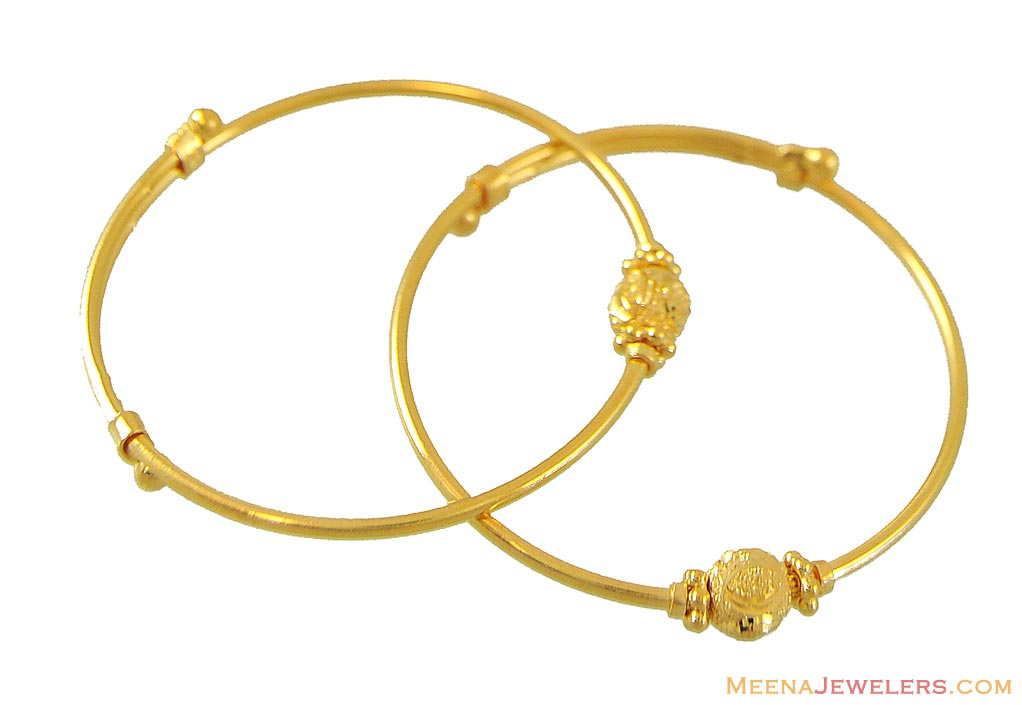 22Karat Kids Bangle (1 pc only) - BjBa8961 - 22k yellow ...
