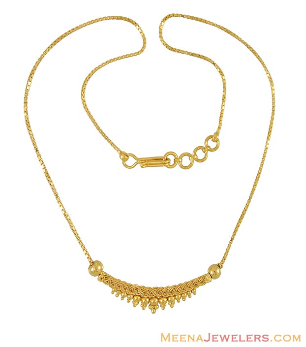 indian gold necklace   chfc9827   22k yellow gold necklace