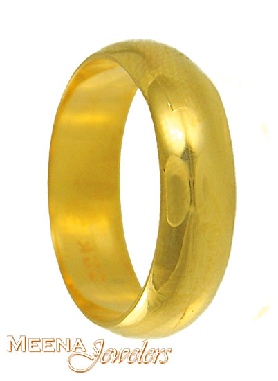 22K Plain Wedding Band CodeRiWb3107 22K Plain Wedding Band gold wedding band