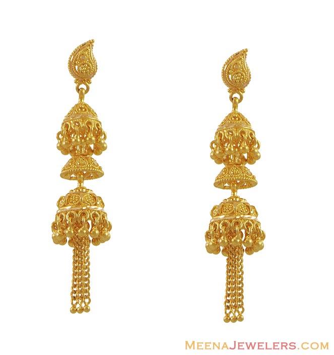 22k gold earrings gold earrings for women male models for Gold design picture