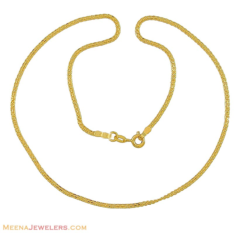 chain pin rose chains plain and gold