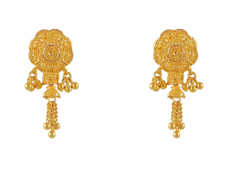 Fancy Earrings on 22kt Gold Fancy Earrings   Erfc4662   22kt Gold Fancy Earrings With