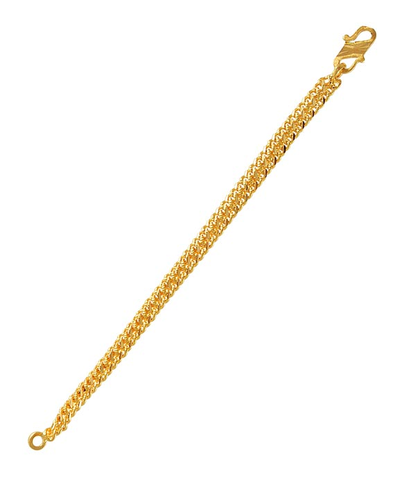 22K Gold Ladies Bracelet BrLa4418 22Kt Ladiessmall With High Shine Diamond Cuts