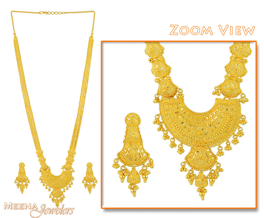 Indian Bridal Necklace Set StBr2623 Indian Bridal Necklace Set 22Kt