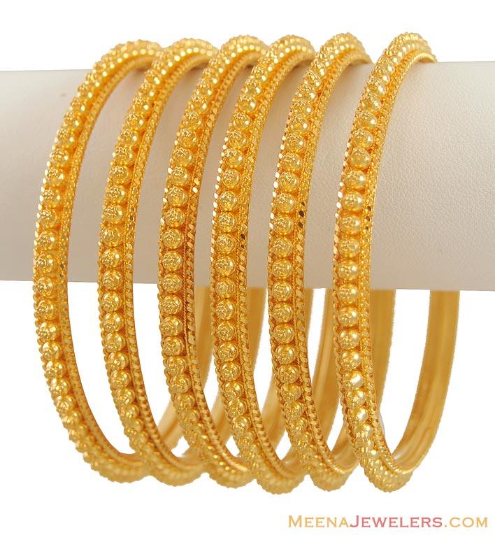 Banithani 18K Micron Gold Plated Bangles Set Traditional