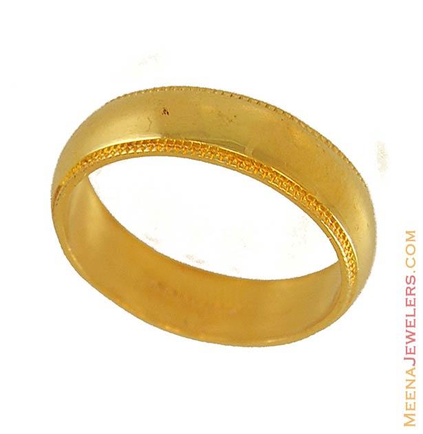 22k yellow gold wedding band riwb6566 22k gold indian