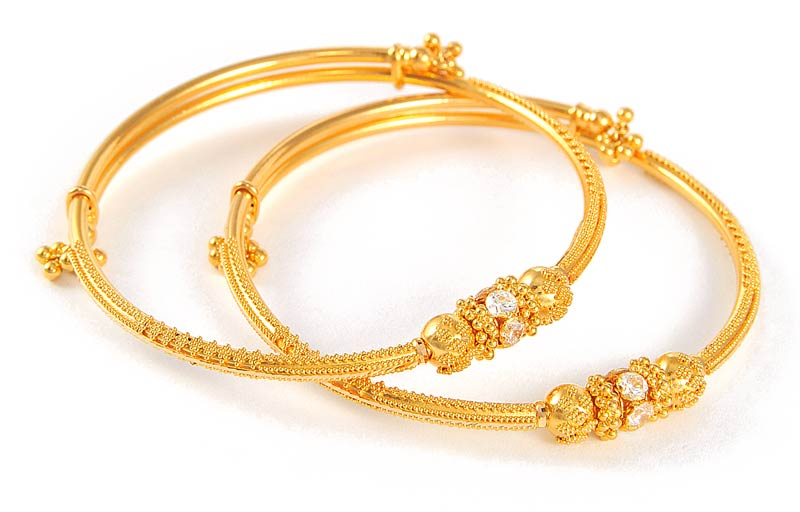 cf3dfc4fe3f 22Kt Indian Baby Gold | Baby Bangles (22kt Gold) - BjBa4100 - 22kt Gold  Indian Baby Bangles ... | Love in 2019 | Bangles, Gold bangles design, Gold  bangles