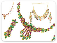 Sets (Ruby, Emerald, Sapphire) >  Combination Necklace Set >