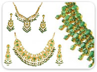 Sets (Ruby, Emerald, Sapphire) >  Emerald Necklace Sets >