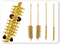 Gold Tikka and EarChains >  Gold Ear Chains >