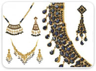 Sets (Ruby, Emerald, Sapphire) >  Sapphire Necklace Sets >