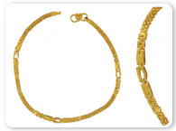 Miscellaneous Gold Jewelry >  Gold Anklets >
