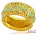 22Kt Gold Fancy Meenakari Band