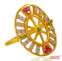 22k Gold Oval Shape Ladies Ring - Click here to buy online - 458 only..