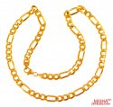 22 kt Gold Figaro Chain (20 In) - Click here to buy online - 1,282 only..
