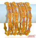 Antique Bangles Set 22K (7 Pcs)
