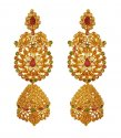 22k Long Polki Earrings - Click here to buy online - 2,294 only..