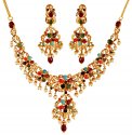 22K Gold Designer Necklace Set