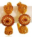 22K Gold Antique Kada (2 PCs) - Click here to buy online - 3,652 only..