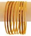 22K Two Tone Bangles Set (4 Pcs) - Click here to buy online - 1,886 only..