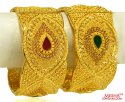 22KT Gold Designer Kada (1Pc only) - Click here to buy online - 5,036 only..