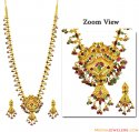 22k Gold Precious Stones Set - Click here to buy online - 3,610 only..