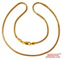 22K Gold Fancy Two Tone Chain - Click here to buy online - 1,000 only..