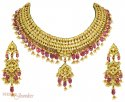 22Kt Gold Kundan Set - Click here to buy online - 9,615 only..