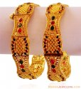 Meenakari 22K Gold Kada (1PC) - Click here to buy online - 1,447 only..