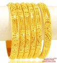 22Kt Gold Bangles Set  - Click here to buy online - 3,042 only..