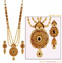 Gold Antique Bridal Necklace Set - Click here to buy online - 7,732 only..