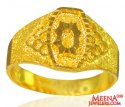 22k Gold Indian Men Ring  - Click here to buy online - 673 only..