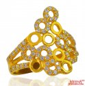 22K Gold Fancy Ring For Ladies  - Click here to buy online - 405 only..