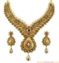 Elegant 22K Antique Necklace Set