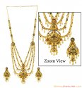 Click here to View - 22K Gold Long Bridal Necklace Set