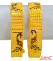 22Kt Gold Peacock Kadas (Pair)  - Click here to buy online - 2,748 only..