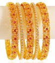 Click here to View - 22 Karat Gold Bangle Set (5 PC)