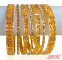 Antique Bangles Set 22K (7 Pcs) - Click here to buy online - 4,395 only..