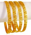 Click here to View - 22KT Gold Machine Bangles (4 Pc)