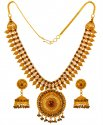 22KT Gold Necklace Earrings Set