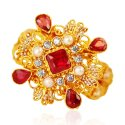 22kt Gold Stones Ring - Click here to buy online - 558 only..